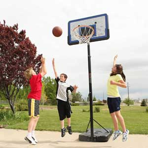 Lifetime Portable Basketball Hoop with 44 inches Impact Backboard