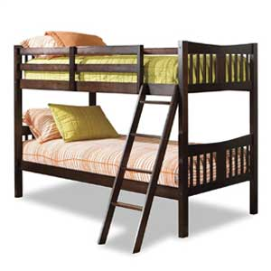 Storkcraft Caribou Twin Bunk Bed Solid Hardwood