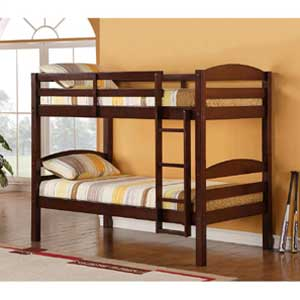 Walker Edison Twin Bunk Bed Solid Wood