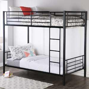 Walker Edison Twin-Over-Twin Metal Bunk Bed