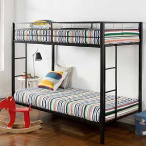 Zinus Twin over Twin Classic Metal Bunk Bed with Dual Ladders